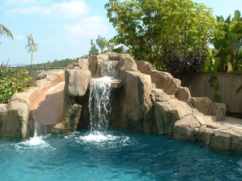 Special Features: Artificial And Simulated Rock Slide, Cave, Grotto,  Waterfalls. Pebble · Swimming Pool ...