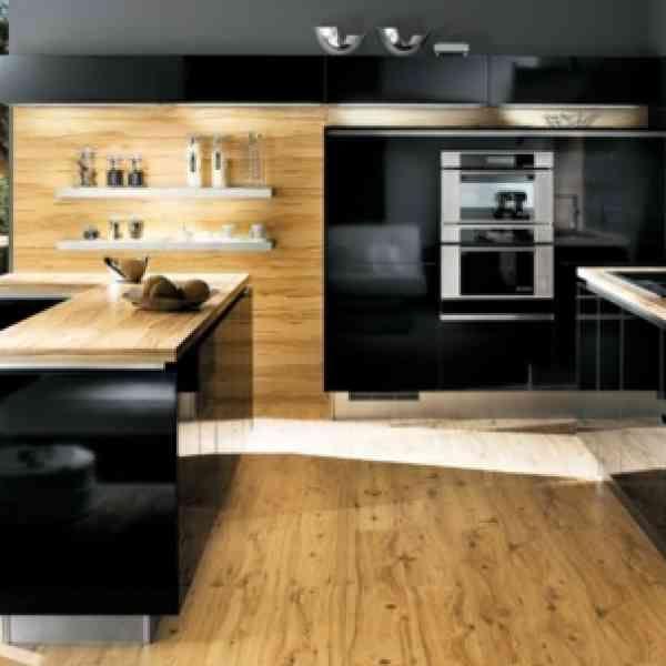 La cuisine bois et noir - c\u0027est le chic sobre raffiné! - Archzinefr