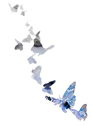 80db4b96b9d butterfly watercolour - sara singh .... Simple and elegant.