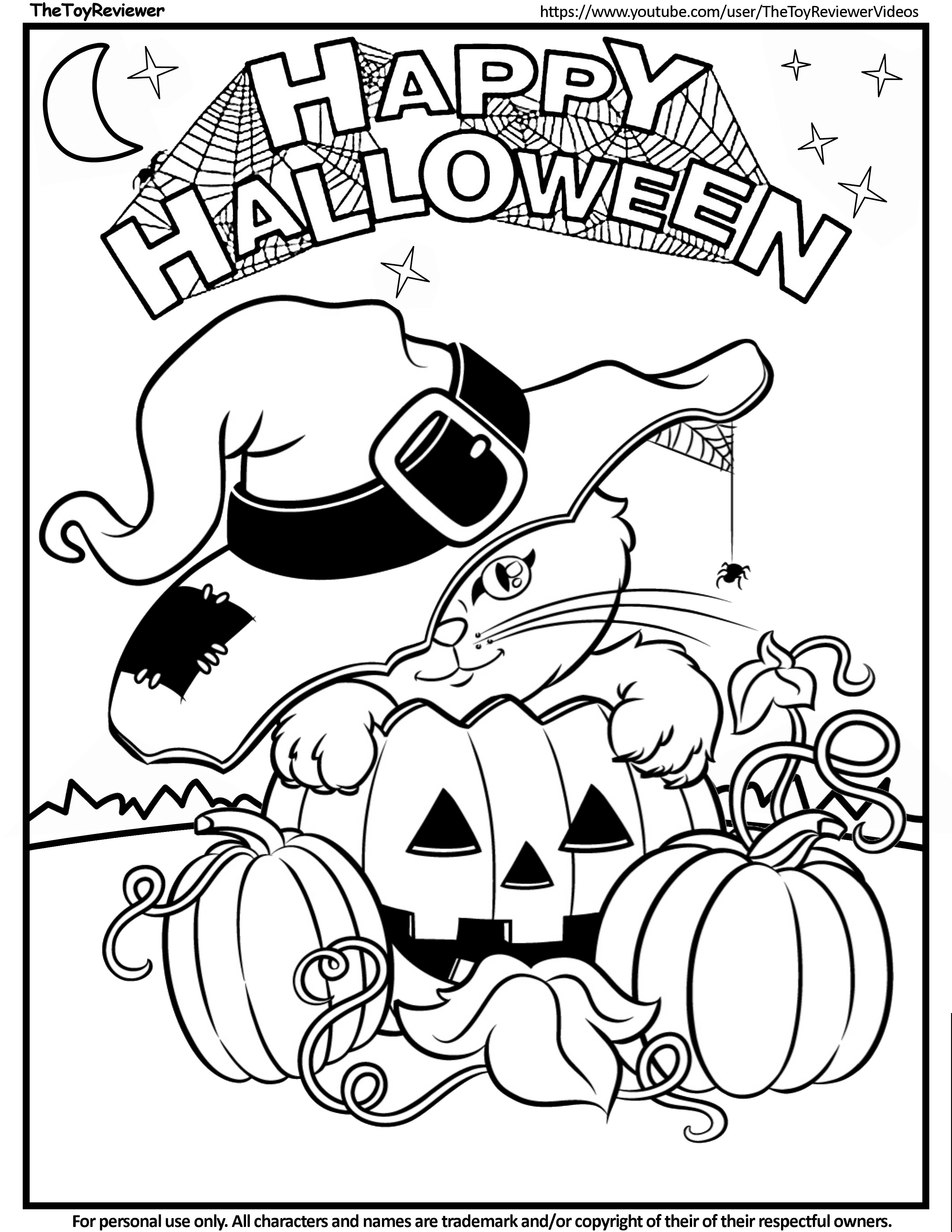 Happy Halloween Coloring Page  Witch coloring pages, Halloween
