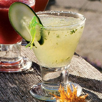 Cucumber Margarita......sounds refreshing!