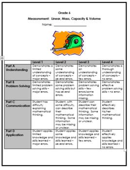 Grade 6: Linear Measurement, Mass, Capacity, Volume ...