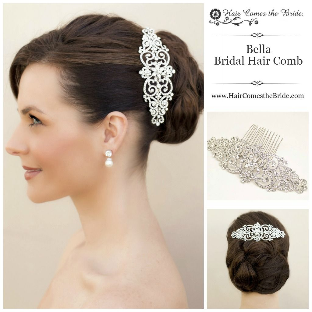 bella twilight inspired rhinestone bridal hair comb by hair comes
