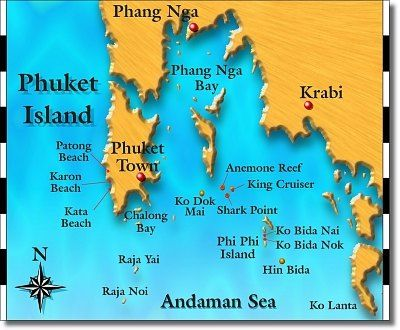Phuket scuba diving Day trip thailand diving Similan Island vacation