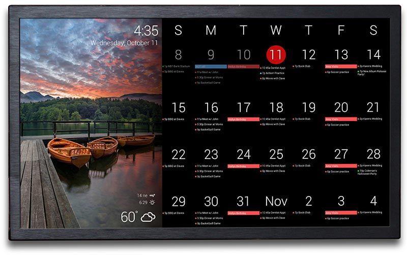 Dakboard Wall Display Digital Calendar With Images Digital