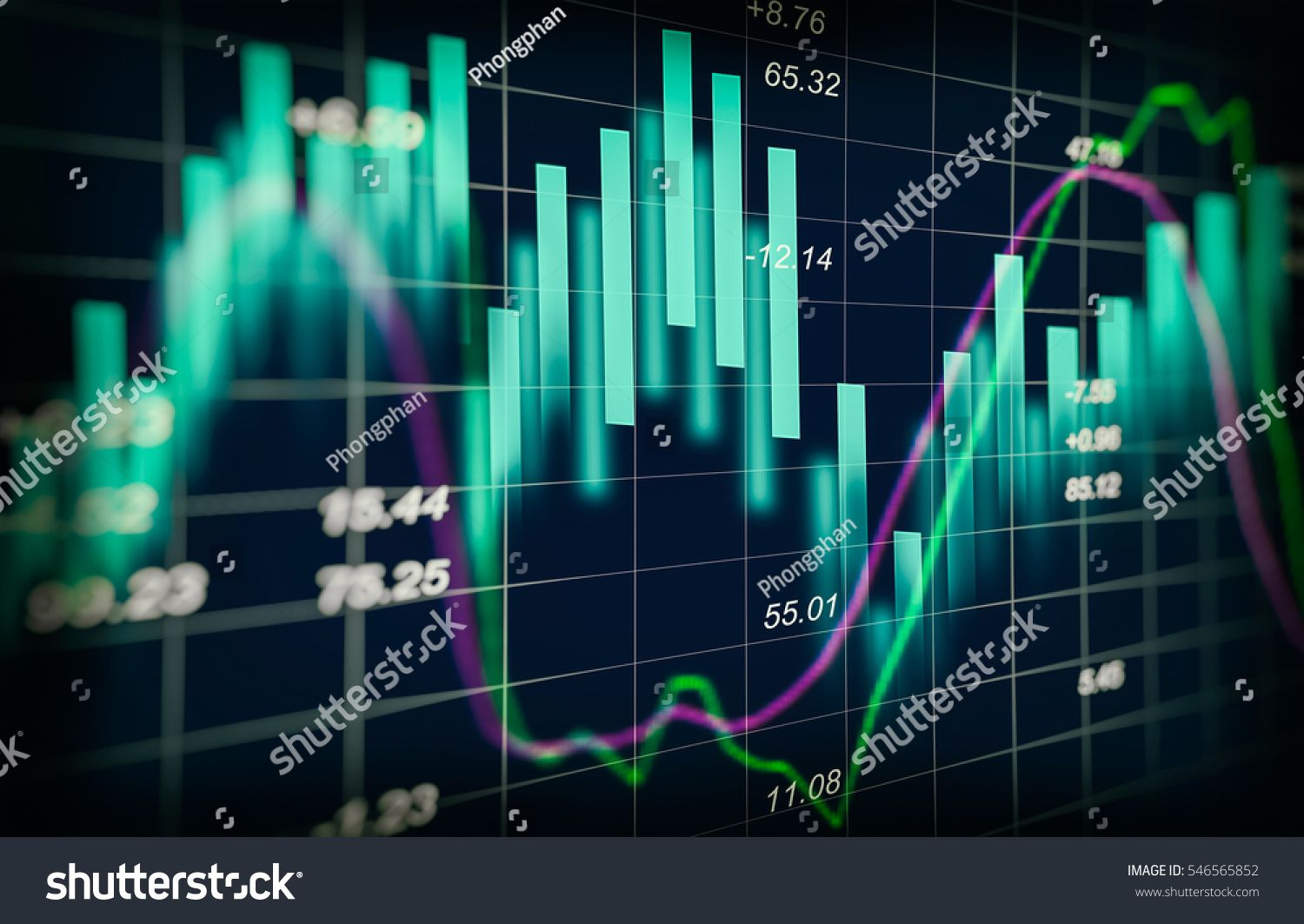 Stock Market Or Forex Trading Graph And Candlestick Chart Suitable For Financial Investment Concept Economy Tren Candlestick Chart Stock Market Bitcoin Market