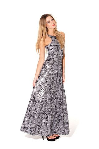 S - A Tribe Called White Maxi Dress
