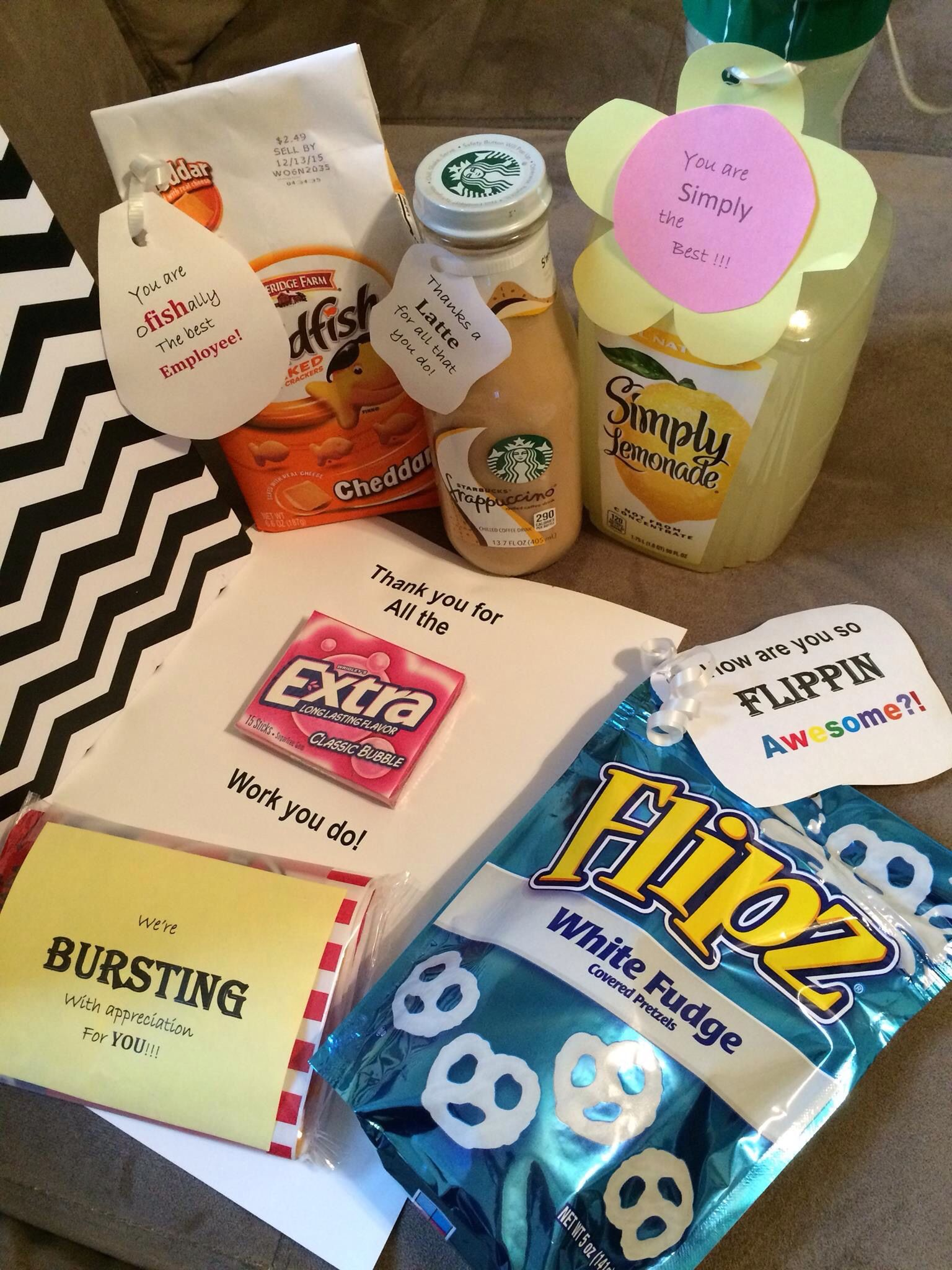Employee appreciation gift bag ideas ftempo