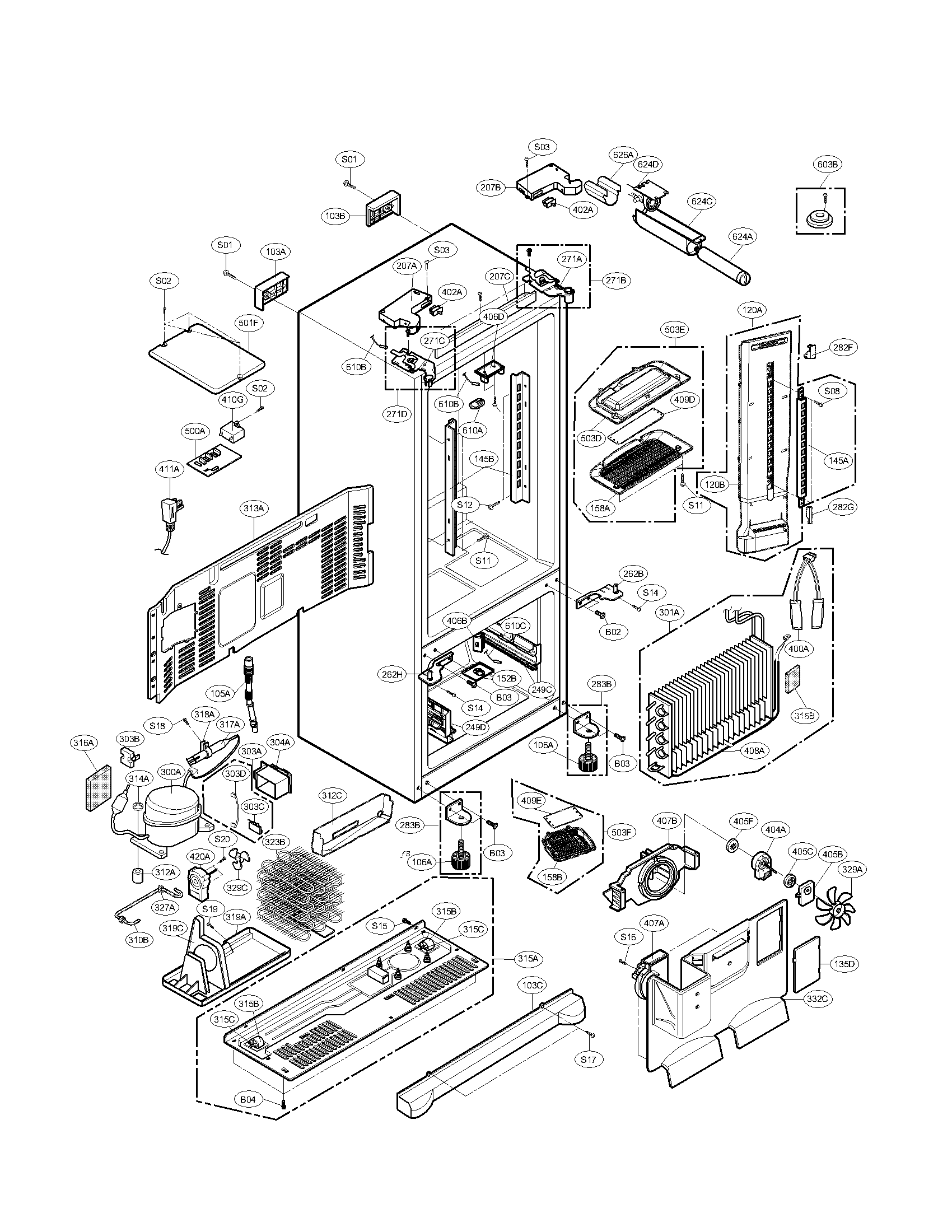 refrigerator frigidaire dishwasher kenmore elite floor plans appliances diagram model  [ 1700 x 2200 Pixel ]