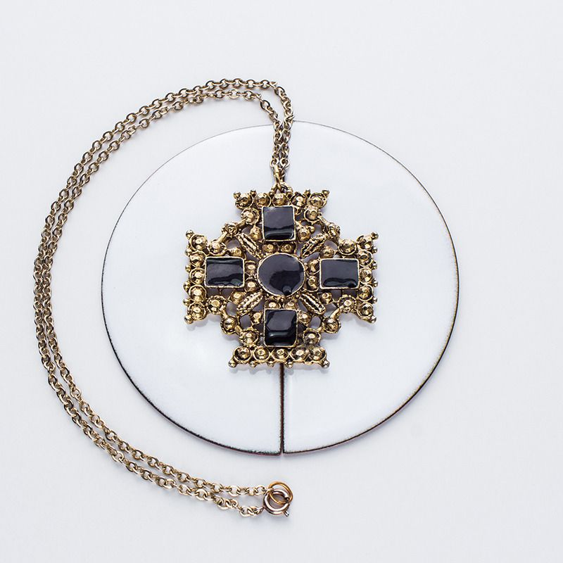Antique Baroque Cross Pendant - #Vintage piece from the 60's <3