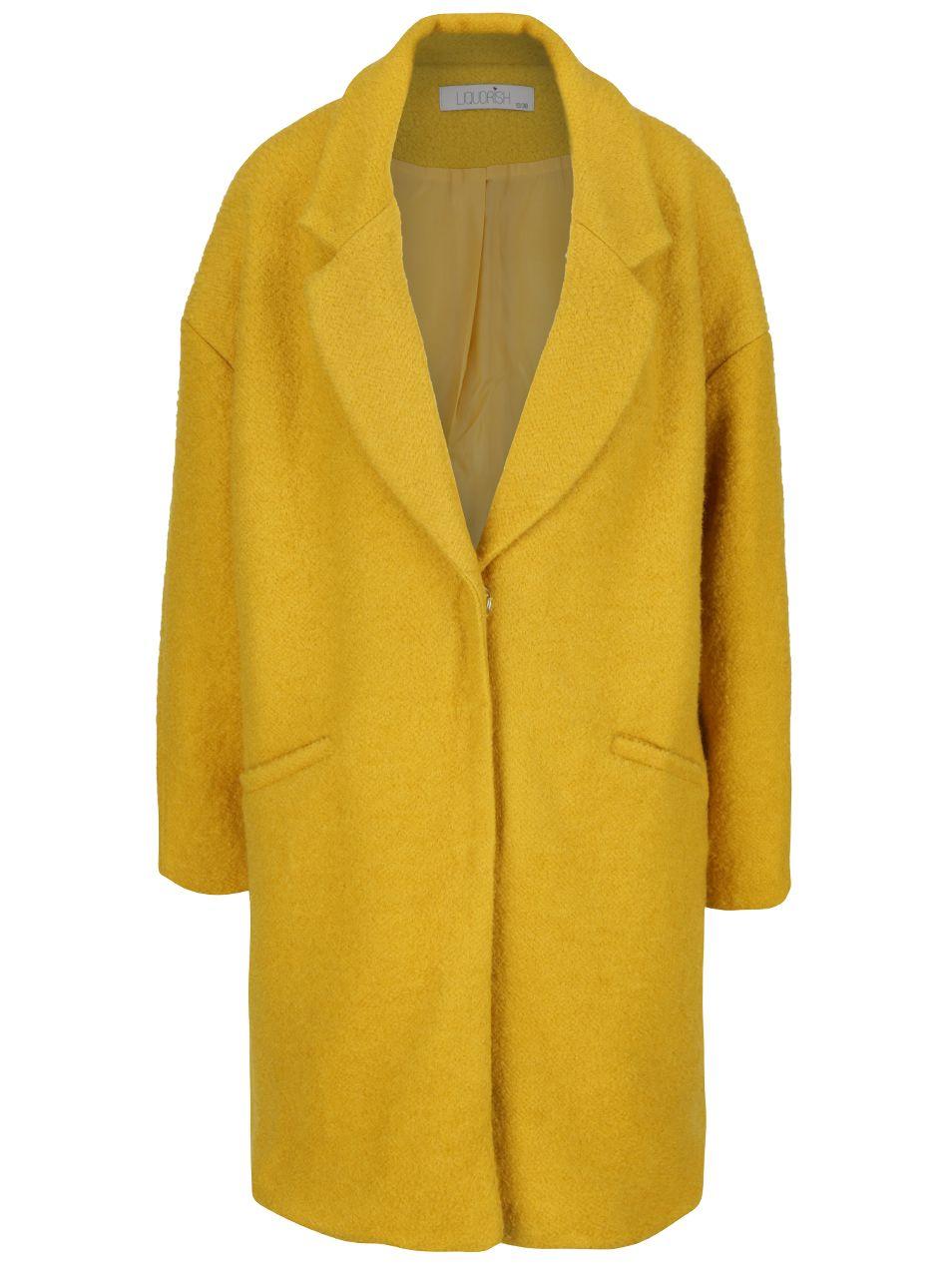 Žltý kabát s veľkými patentkami Liquorish