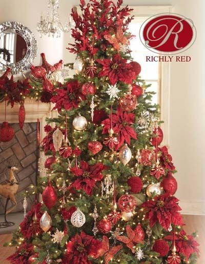 This Reminds Me Of An Old White Rose Christmas Catalogue I Miss White Rose Nurseries And Craft Sto Holiday Christmas Tree Christmas Tree Decorations Christmas