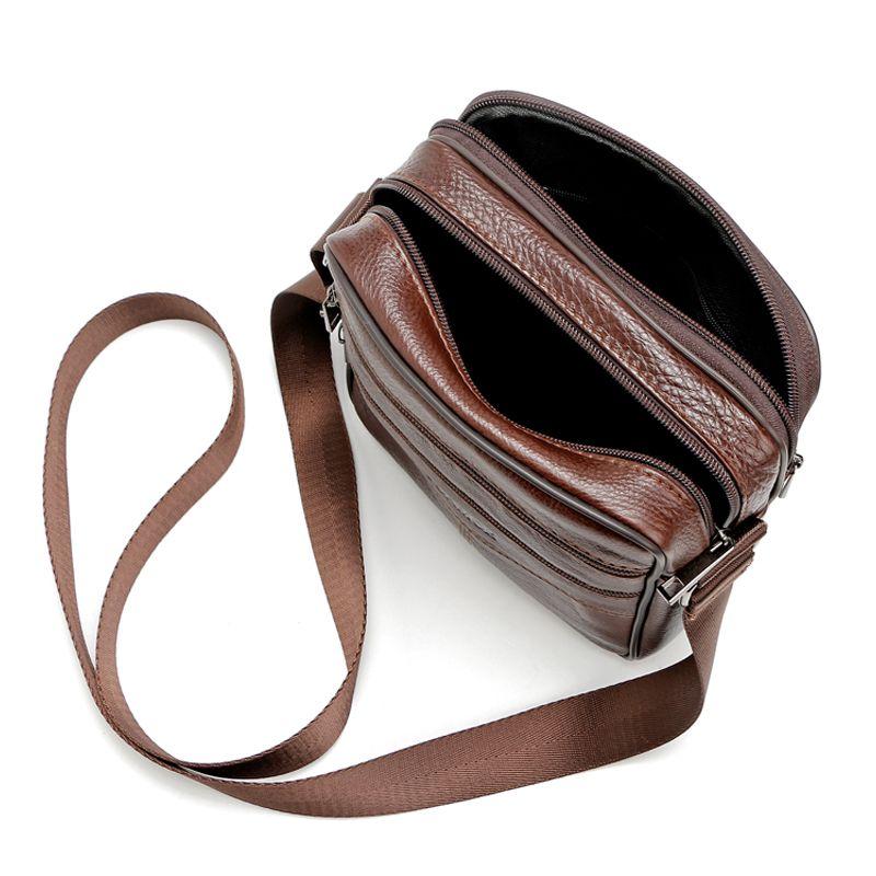 f6f06ab205 High quality 2017 Brand Genuine Leather bag Vintage Designer Men Crossbody bags  Cowhide leather small messenger bag for man - gemdivine