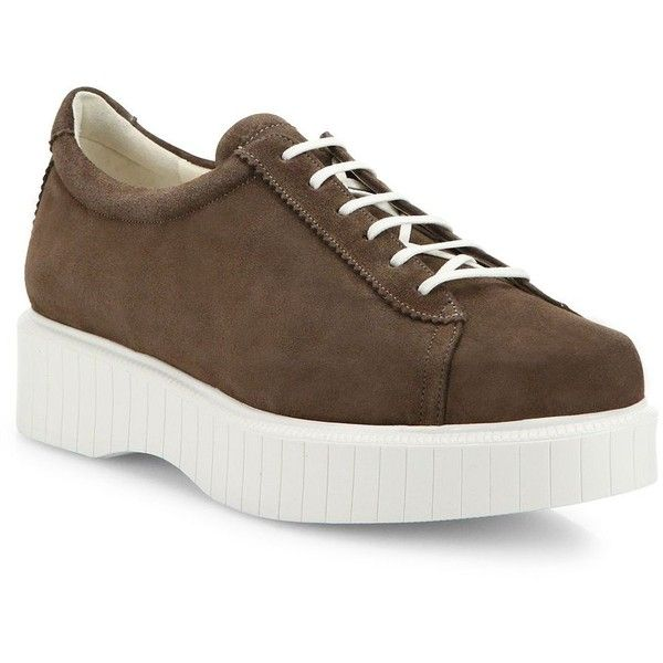 Pasket Suede Flatform Sneakers Robert Clergerie 4fiyoePca