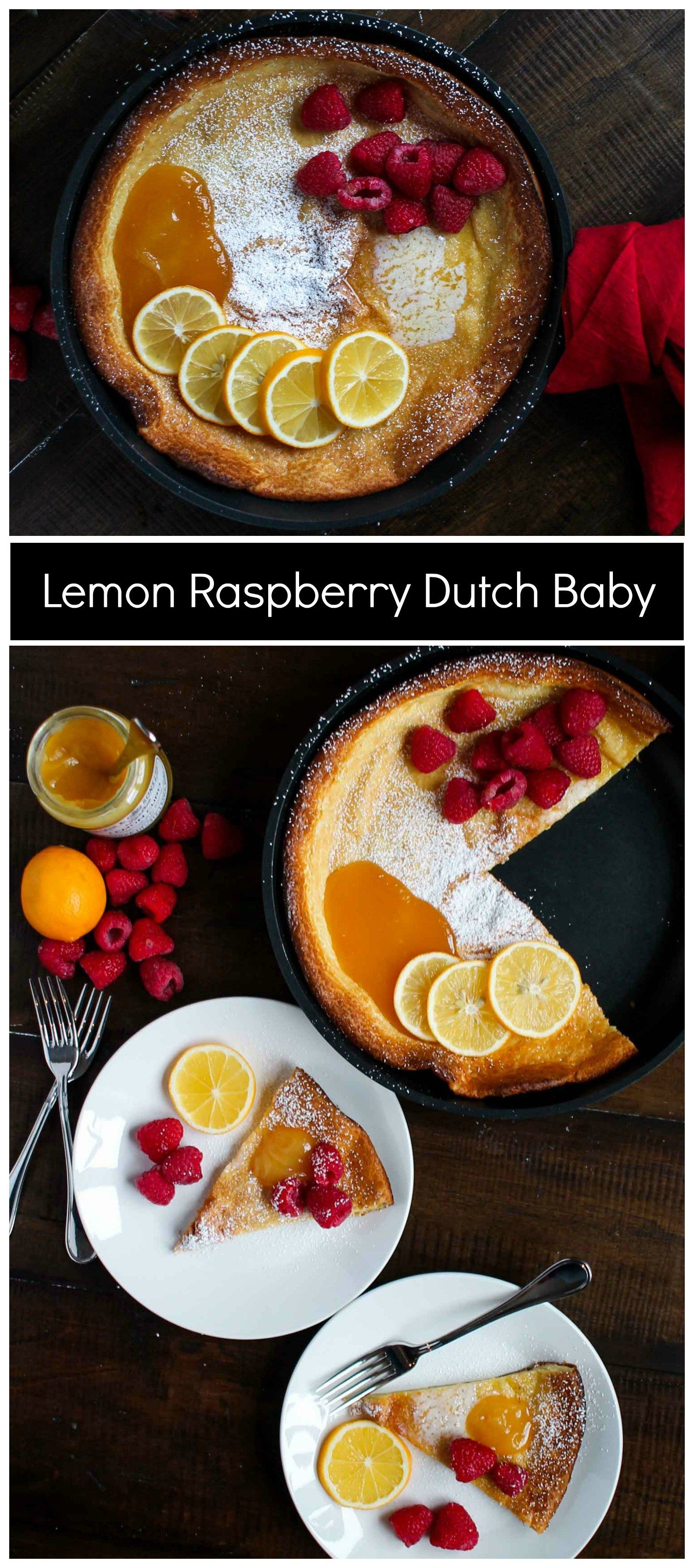 A Lemon Raspberry Dutch Baby is the easiest brunch recipe! It is elegant and takes just 5 minutes of active preparation time. Get the recipe here.