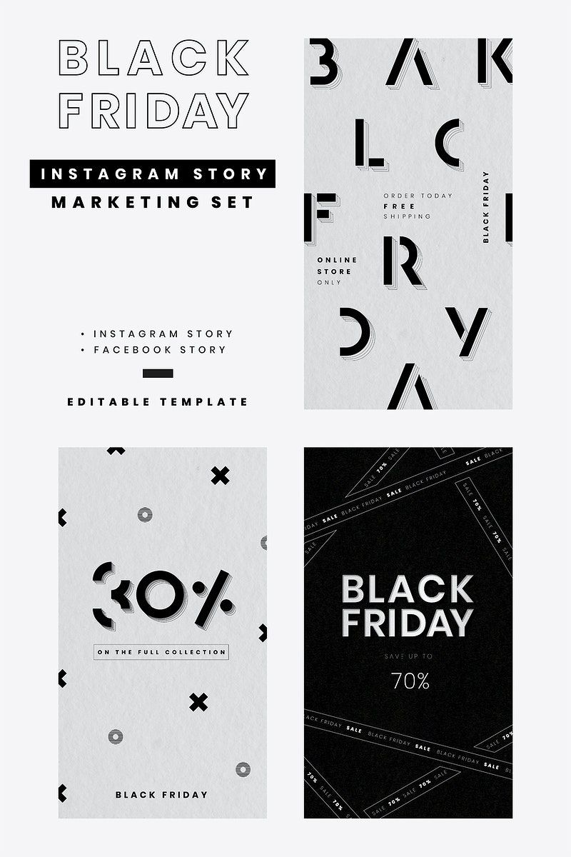 Black Friday Vector Discounts Social Media Banner Set Free Image By Rawpixel Com Wan In 2020 Black Friday Banner Black Friday Marketing Black Friday