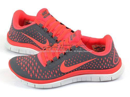 be611eb51d50f Details about Nike Wmns Free 3.0 V4 Dark Grey Bright Crimson Lightweight  Running 511495-060
