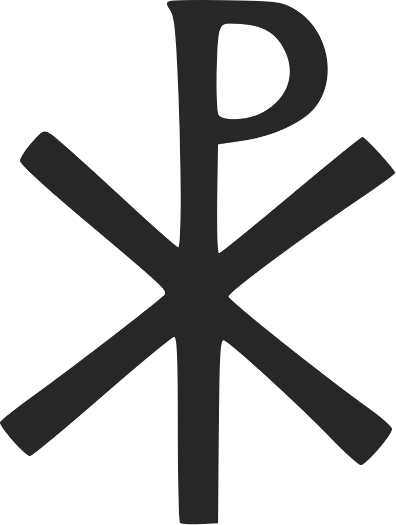 Simple Labarum2 Svg Png Png Image 774 1024 Pixels Scaled 59 Catholic Symbols Chi Rho Christian Symbols