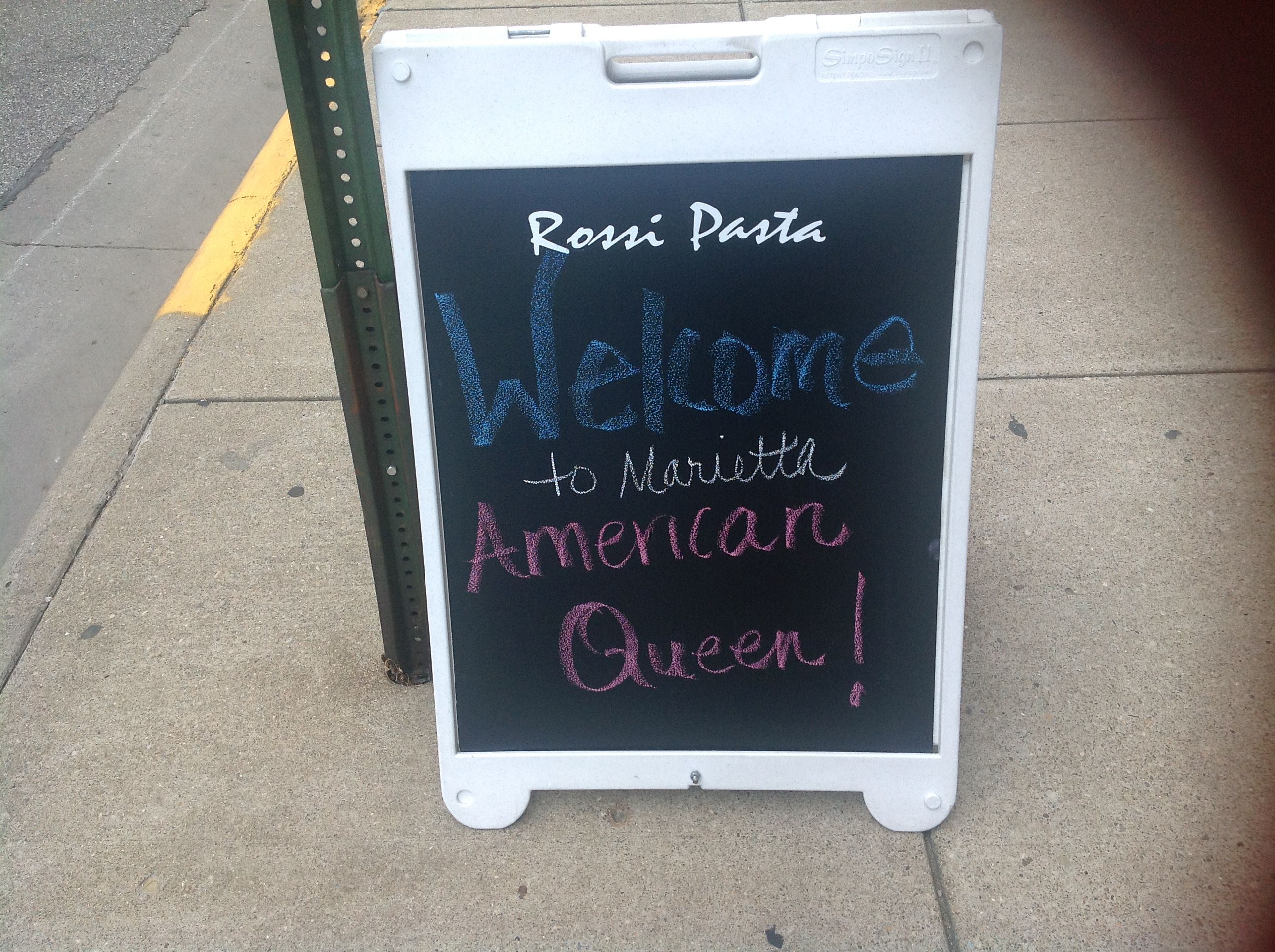 Loved the welcome signs from the local businesses, in Marietta, OH.
