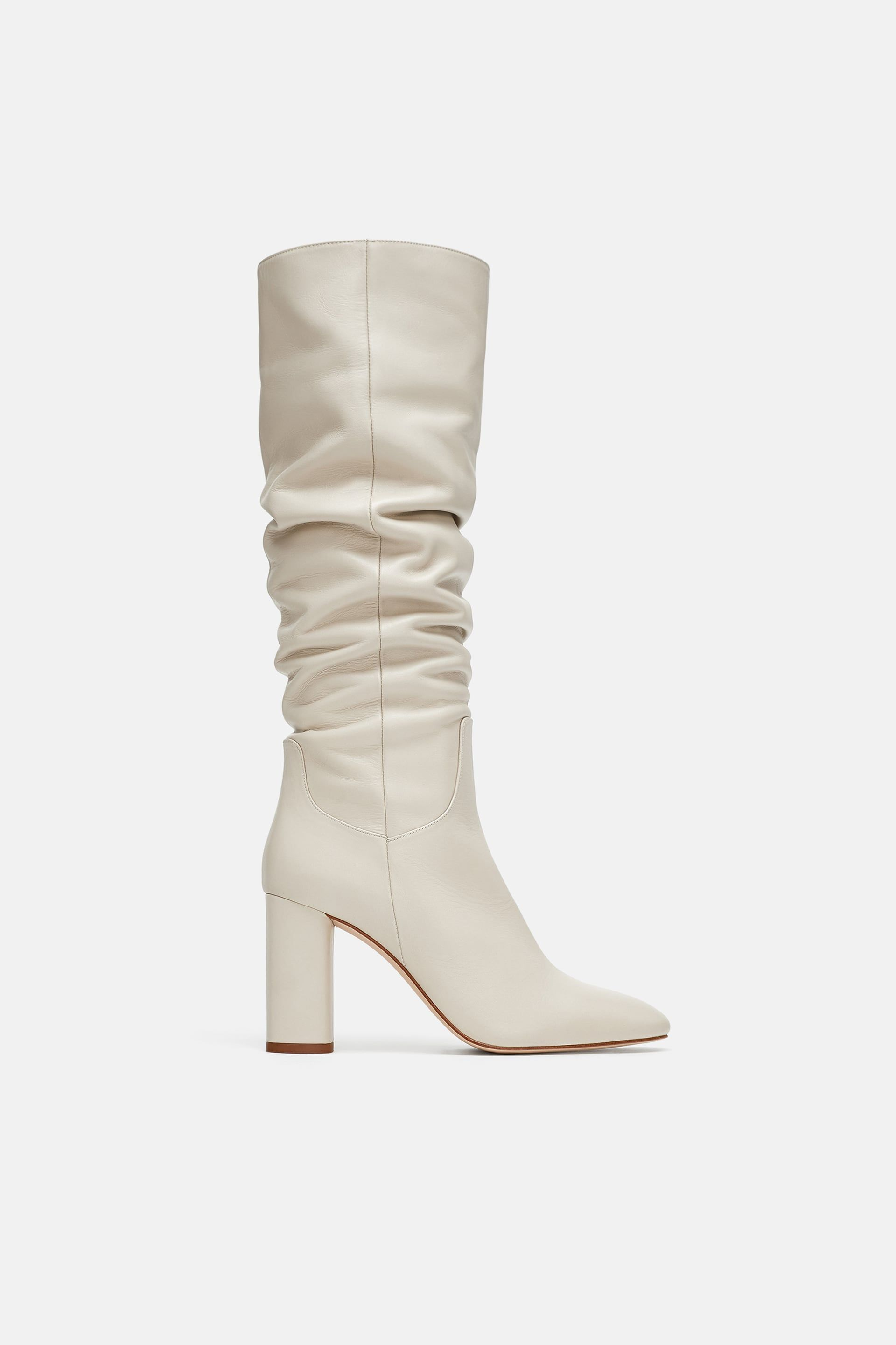 discount shop fashion the sale of shoes High-heel leather boots in 2019   Leather high heel boots ...