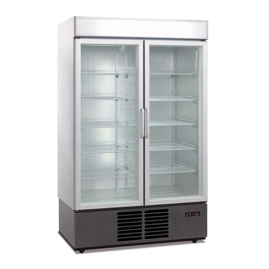 Glass door fridge kitchen - 1000l Double Glass Door Drink Display Fridge