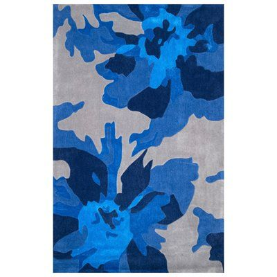 nuLOOM BHEV16A Blue Hand Tufted Floral Daron Area Rug