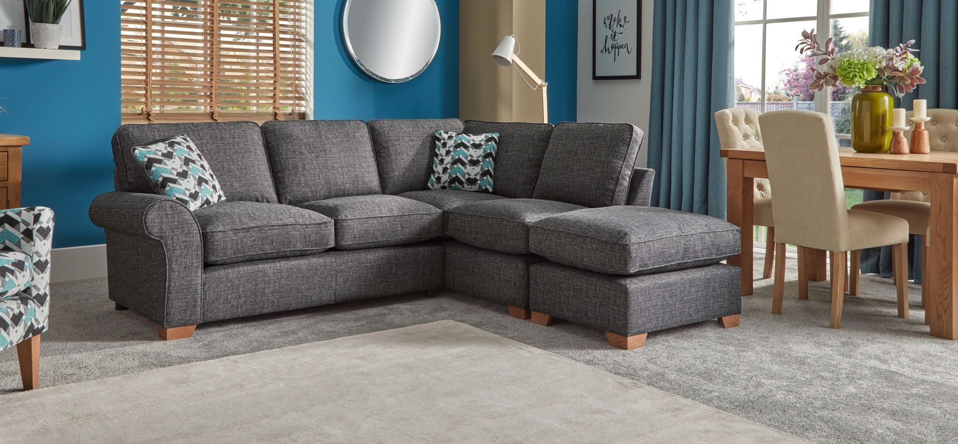 Lola 2 Corner 1 Right Hand Facing Chaise Standard Back - ScS | Home ...