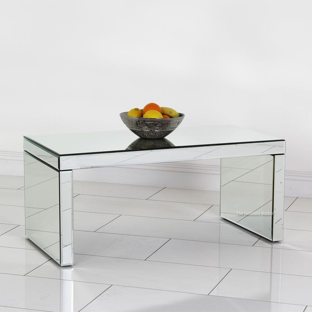 #ArtDeco #Venetian #Mirrored Small Coffee Table