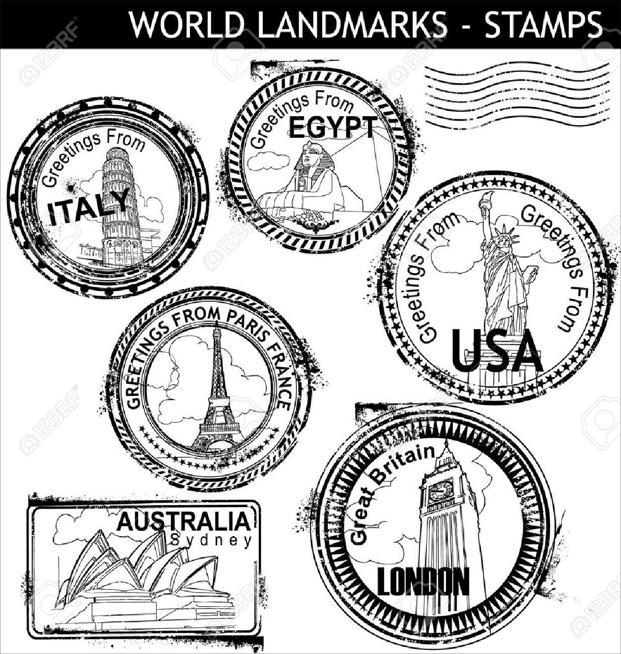 hight resolution of stamp clipart us passport 64