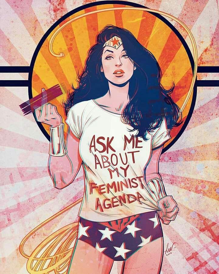 Ask Me About My Feminist Agenda Wonder Woman Superhero Comics