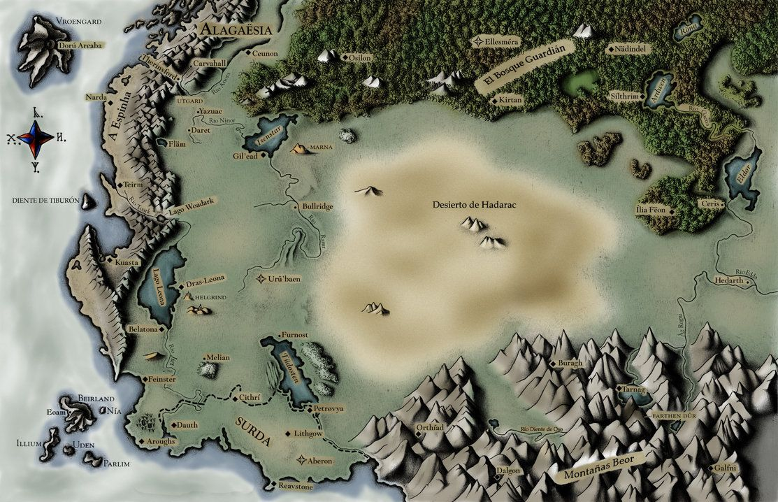 Map Of Alagaesia Map of Alagaësia from Eragon by Christopher Paolini | Fictional