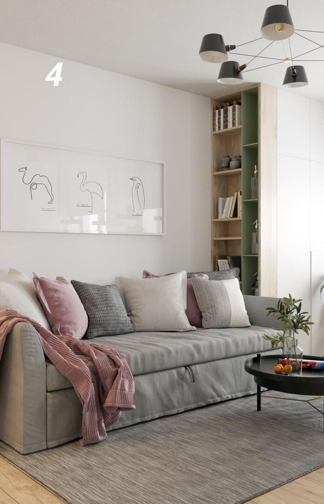Красивый и функциональный дизайн-проект квартиры студии в ...