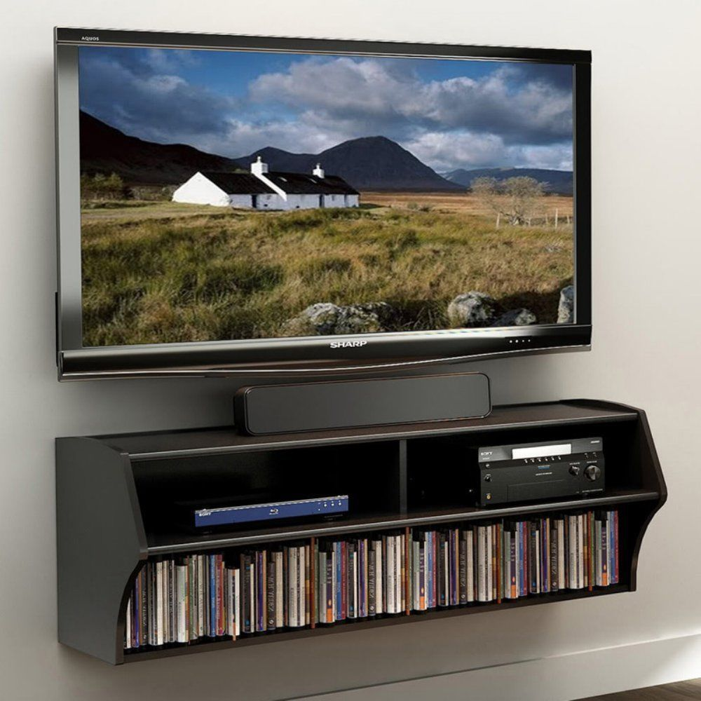 Great Wall Mounted Audio Video Gaming TV DVD CD Storage Console Shelf DVR Book  Stand