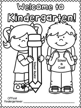 Back To School Freebie For K 2nd Grades Yay Welcome To Kindergarten Kindergarten First Day Kindergarten Coloring Pages