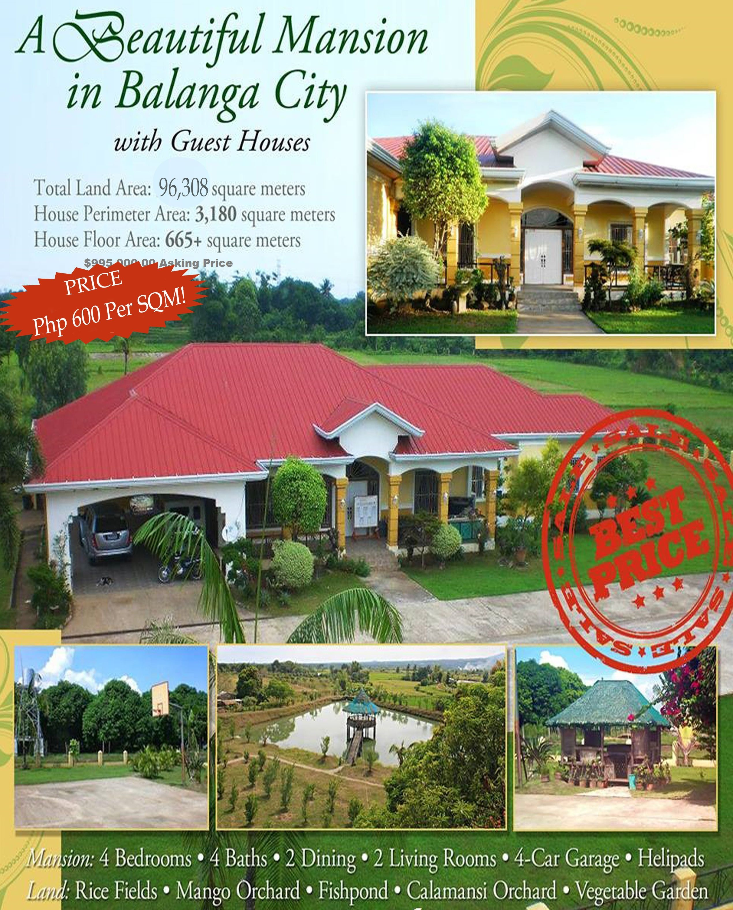 Mansion with Guest Houses in Balanga City, Bataan
