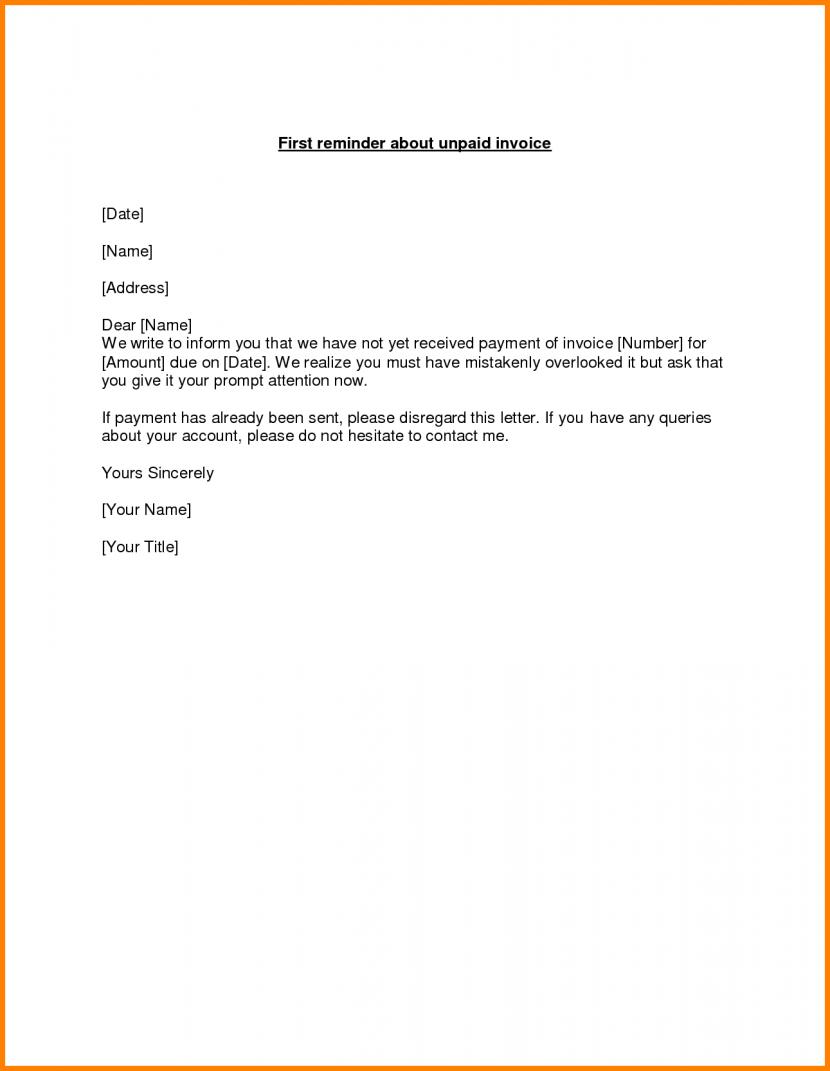Overdue Invoice Letter Template Sehadetvakti Com For Format Ledger