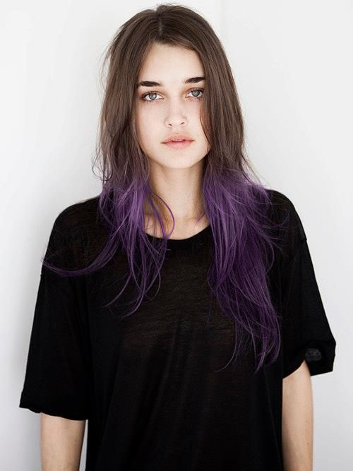 Wow I Love That Purple And Brown Hair Pale Skin Purple Ombre Hair Hair Styles