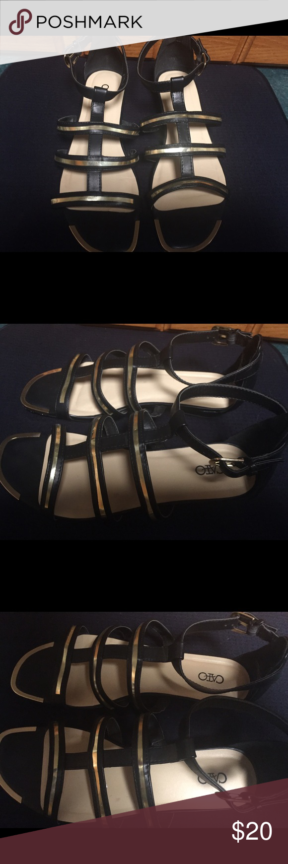 Cato Gladiator Style Sandals Very nice gently worn three times Cato gladiator style sandals! Cato Shoes Sandals