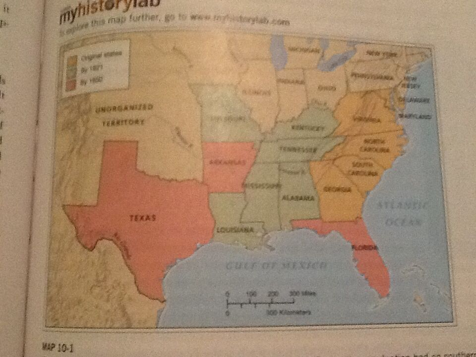 Map Of Us States In 1860%0A The South Expands this map shows the dramatic effect cotton production had  on southern expansion  From the original six states of westward expansion