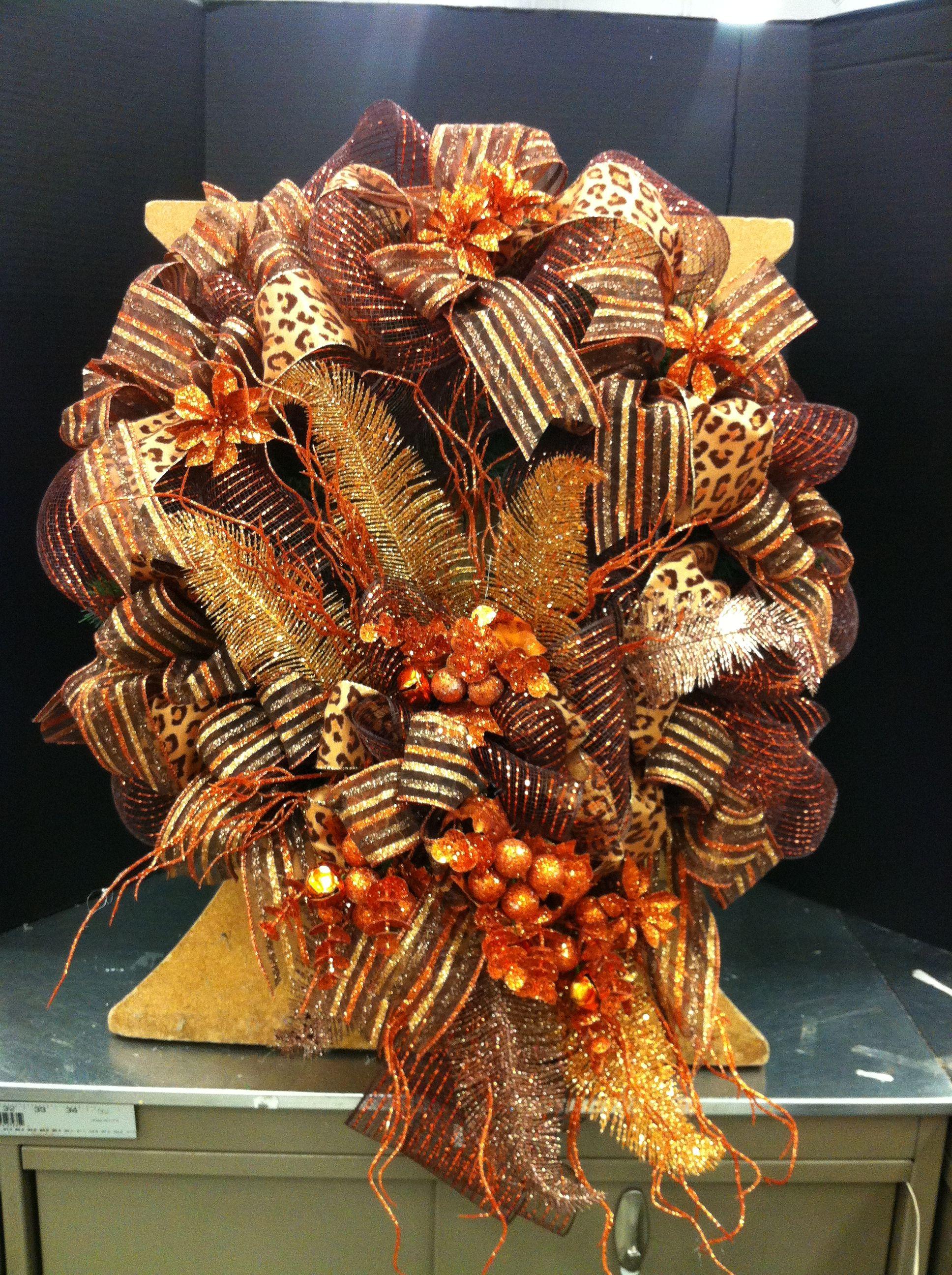 Copper color Christmas wreath... Norma Gordon