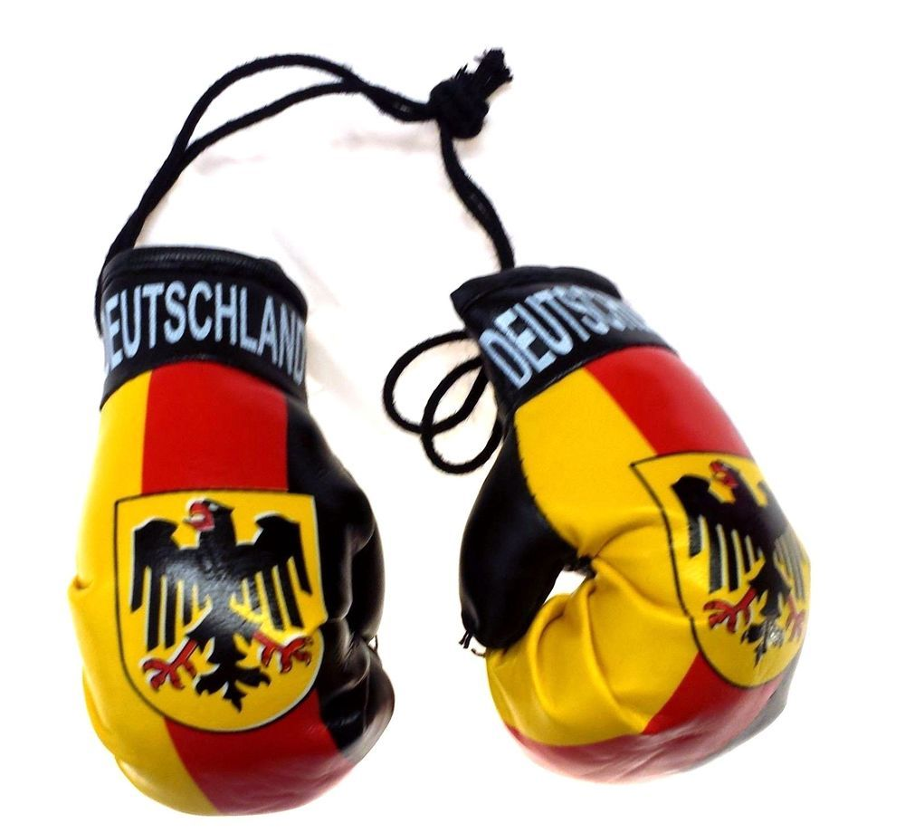 "4 x 2.4/"" PORTUGAL Flag Mini Boxing Gloves Car Auto Mirror Hanging Decoration"