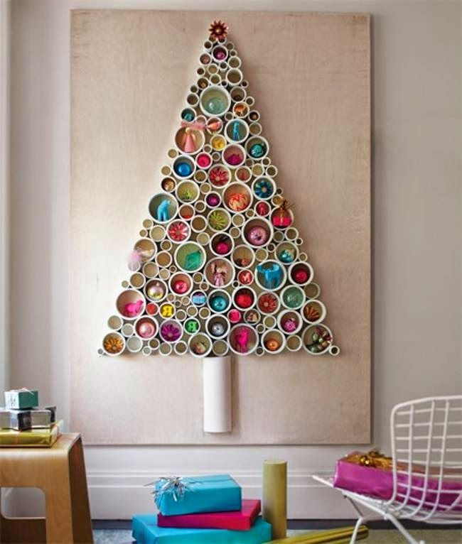 Christmas Trees Made From Recycled Materials A Wowser Diy Christmas Wall Creative Christmas Trees Christmas Wall Art