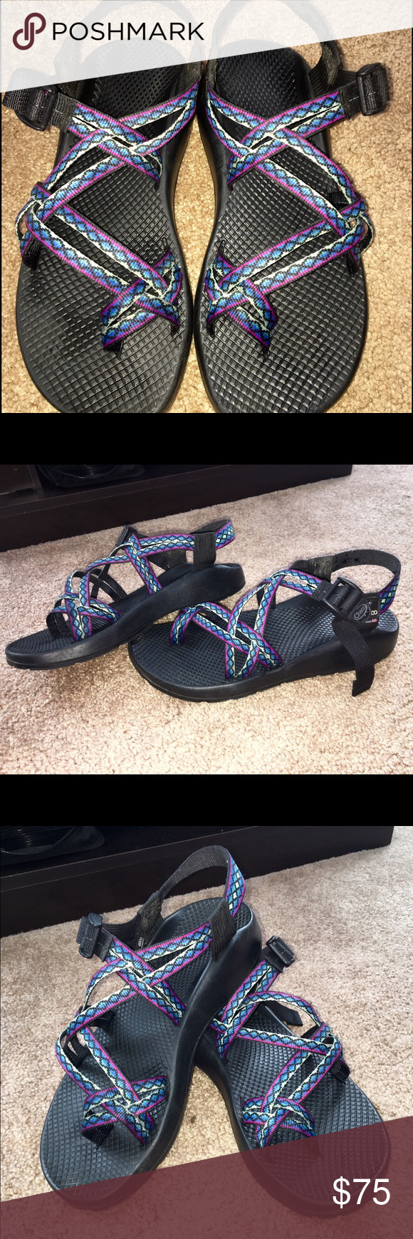 b7c69fa60364 Double strap chacos with toe strap Only worn about 4 times