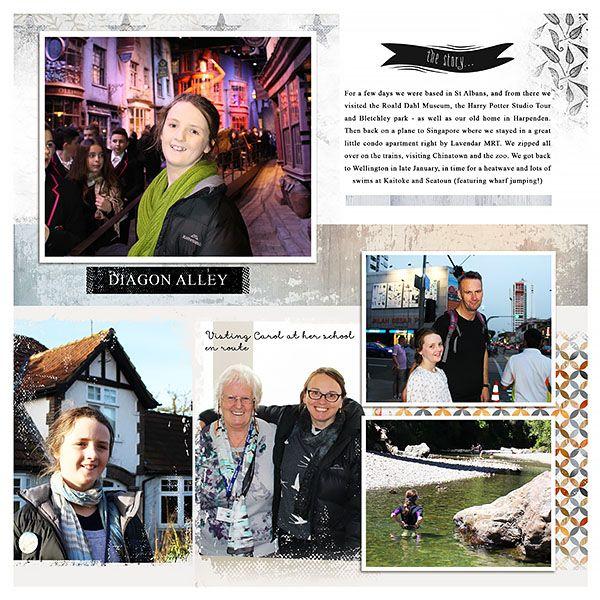 Project Life style monthly recap, Woodville photobook album templates No.02, Designer Digitals