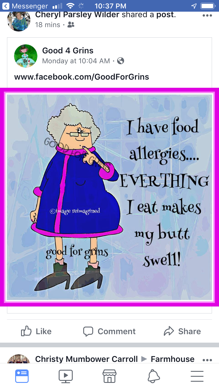 Pin By Shari Wagner On Quotes Funnies Funny Quotes Food Allergies Funny