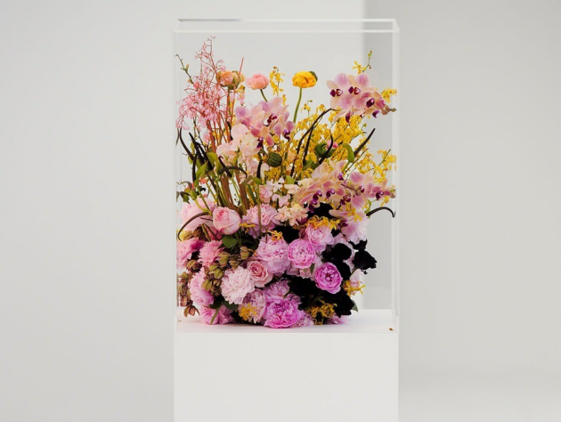 Flowers for Jil Sander collection 2012  - flowers by Antwerp-based florist Mark Colle