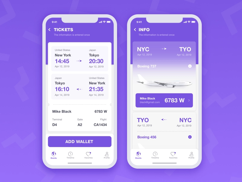 Flight App Hi Guys This Is A Travel App Concept On These Screens You Can See Flight Information And App Flight Travel App Flight App App