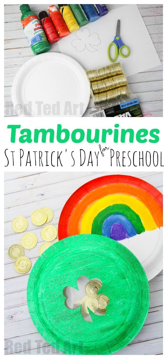 Paper Plate Tambourine for St Patrick's Day | St patrick's ...