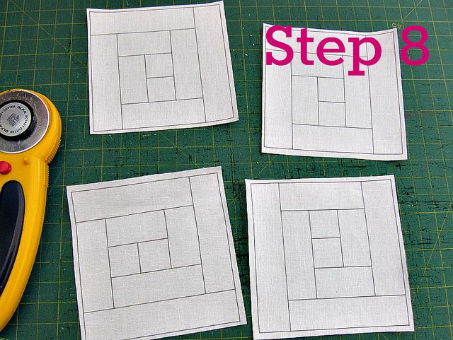 Printing foundation templates on fabric - a tutorial