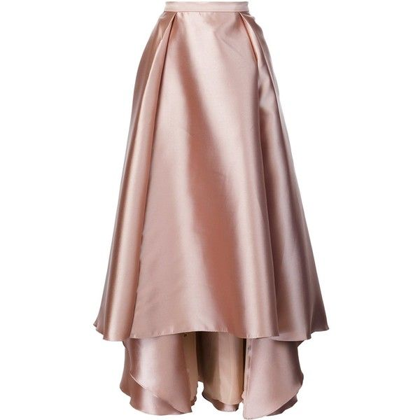 Badgley Mischka long full skirt (14 855 UAH) ❤ liked on Polyvore featuring skirts, pink, long brown skirt, badgley mischka, full pink skirt, brown skirt and long pink maxi skirt